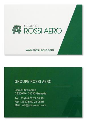 Cartes De Visite Groupe Rossi Aro