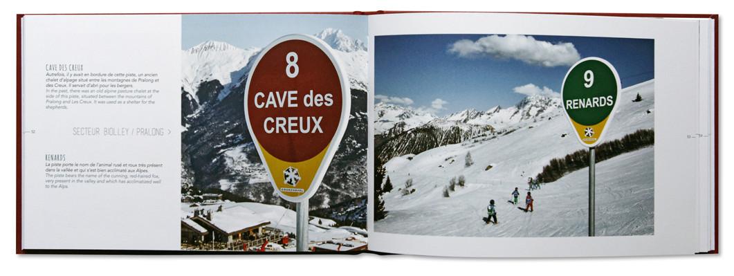 Nom d1 Piste, Vallée de Courchevel, Christian Arnal, intérieur livre