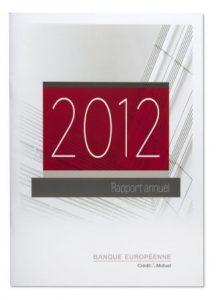 Rapport annuel Crédit Mutuel 2012, réalisé par Escourbiac l'imprimeur