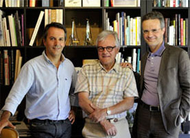 De gauche à droite : Philippe, Michel et Alain Escourbiac