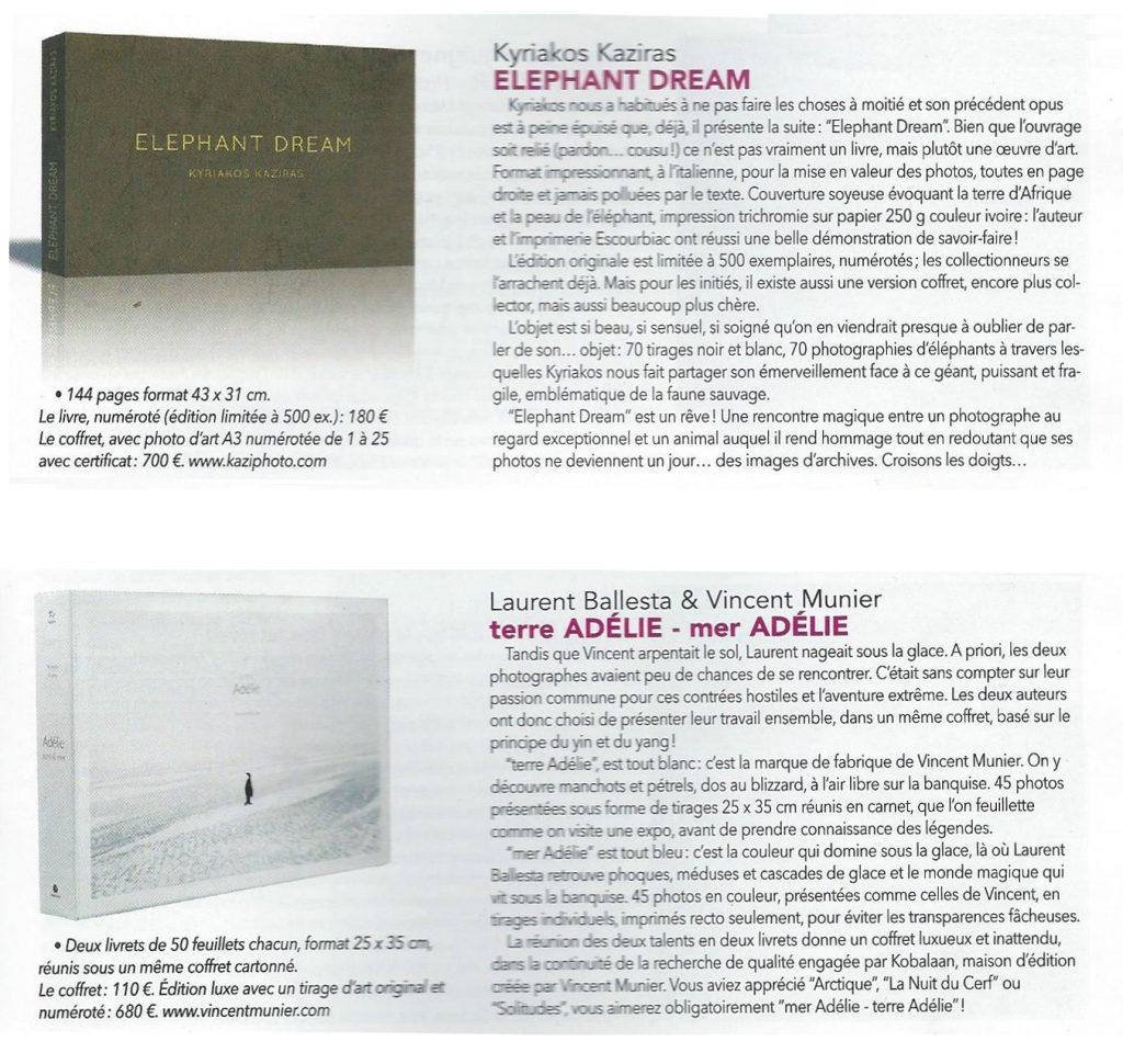 Chasseurs d'images n°390, beaux livres de photographie de l'année, chroniques d'Elephant Dream et de Terre Adélie - Mer Adélie