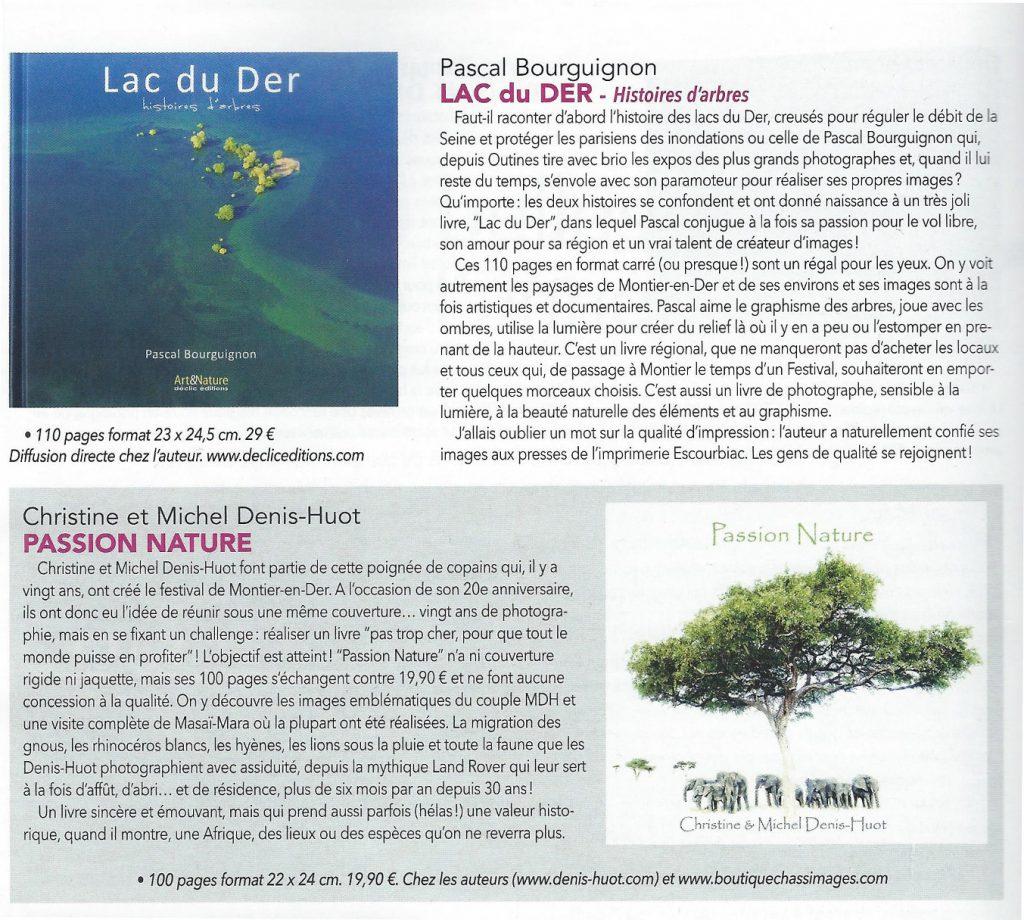 Chasseurs d'images n°390, beaux livres de photographie de l'année, chroniques de Lac du Der et de Passion Nature