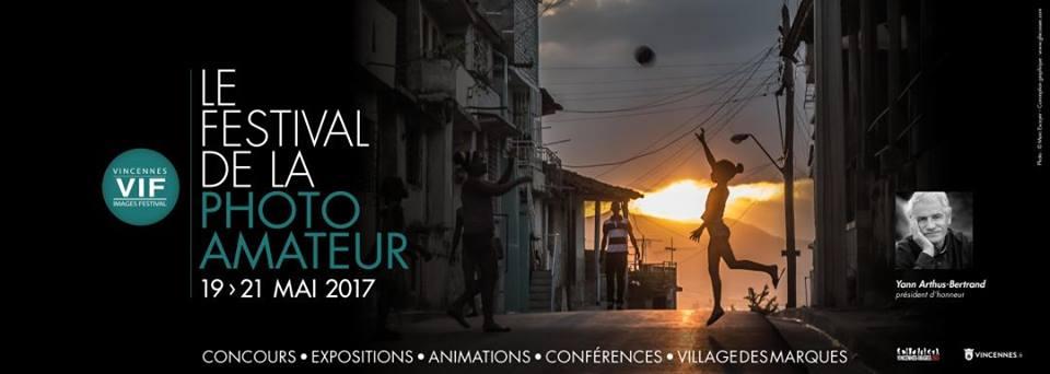 """Affiche du Festival de la Photo Amateur 2017 """"Vincennes Images Festival"""""""