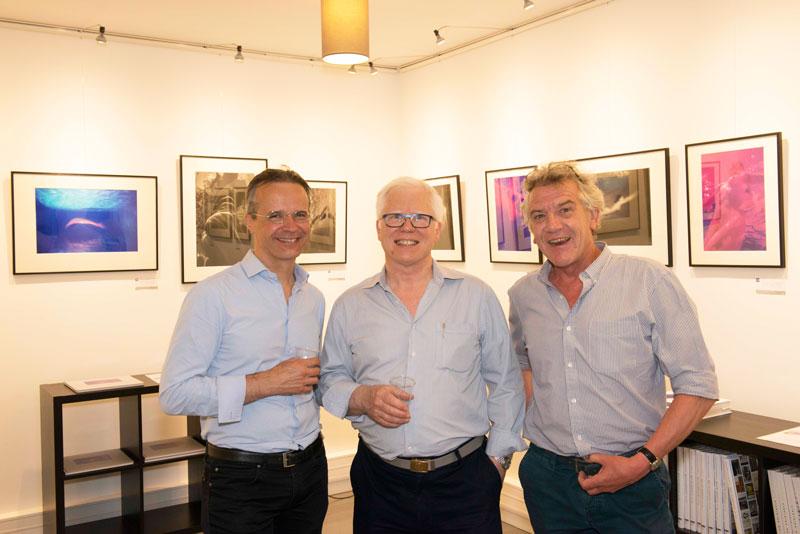 Alain Escourbiac, Ian Patrick et Thierry Spick, Galerie Argentic, vernissage expo Lévitation de Ian Patrick