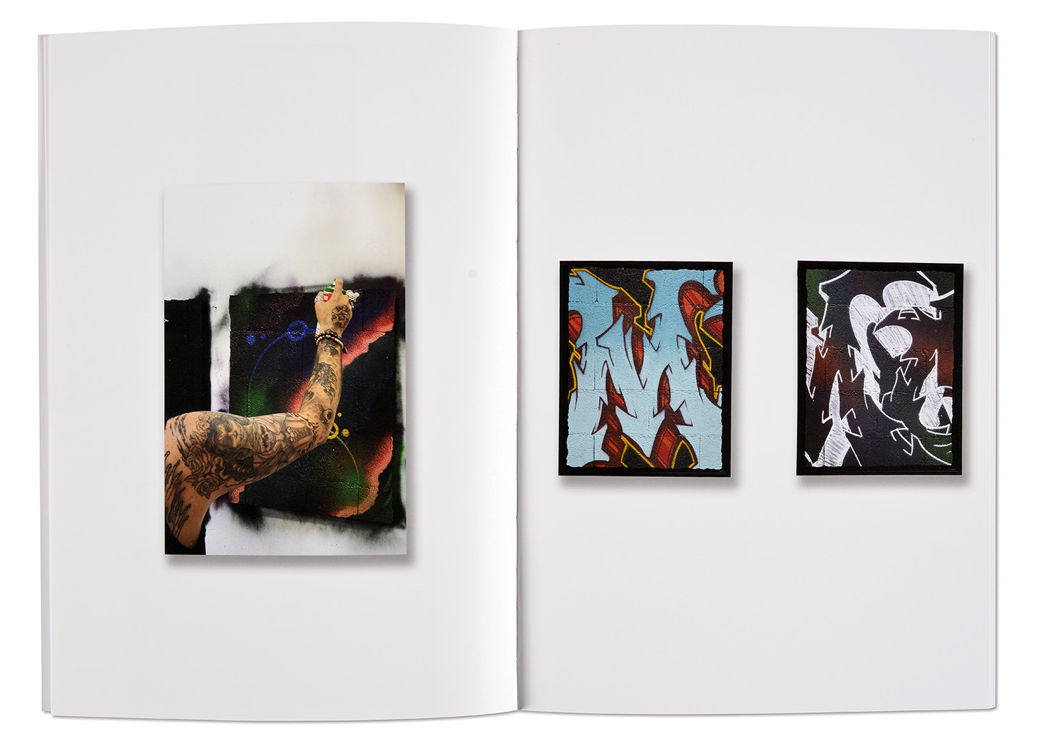 L'ère du Mur, catalogue Mou, artiste graffeur, intérieur