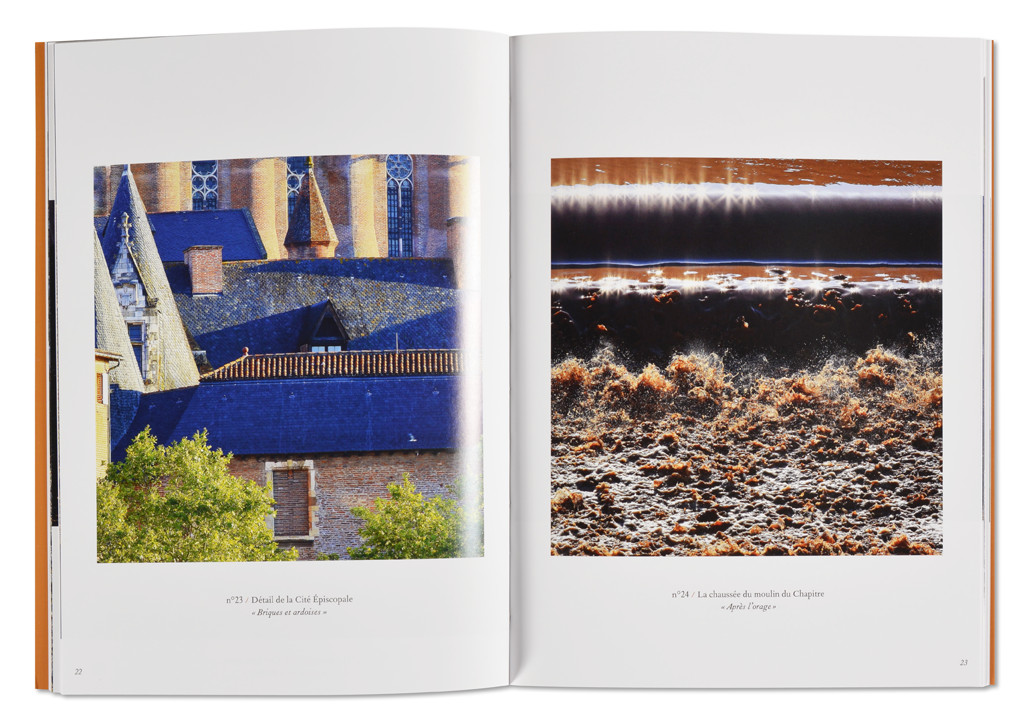 Le 3ème oeil sur Albi et le Tarn, Catalogue exposition Alain Durand, Musée Toulouse-Lautrec, intérieur livret ouvert