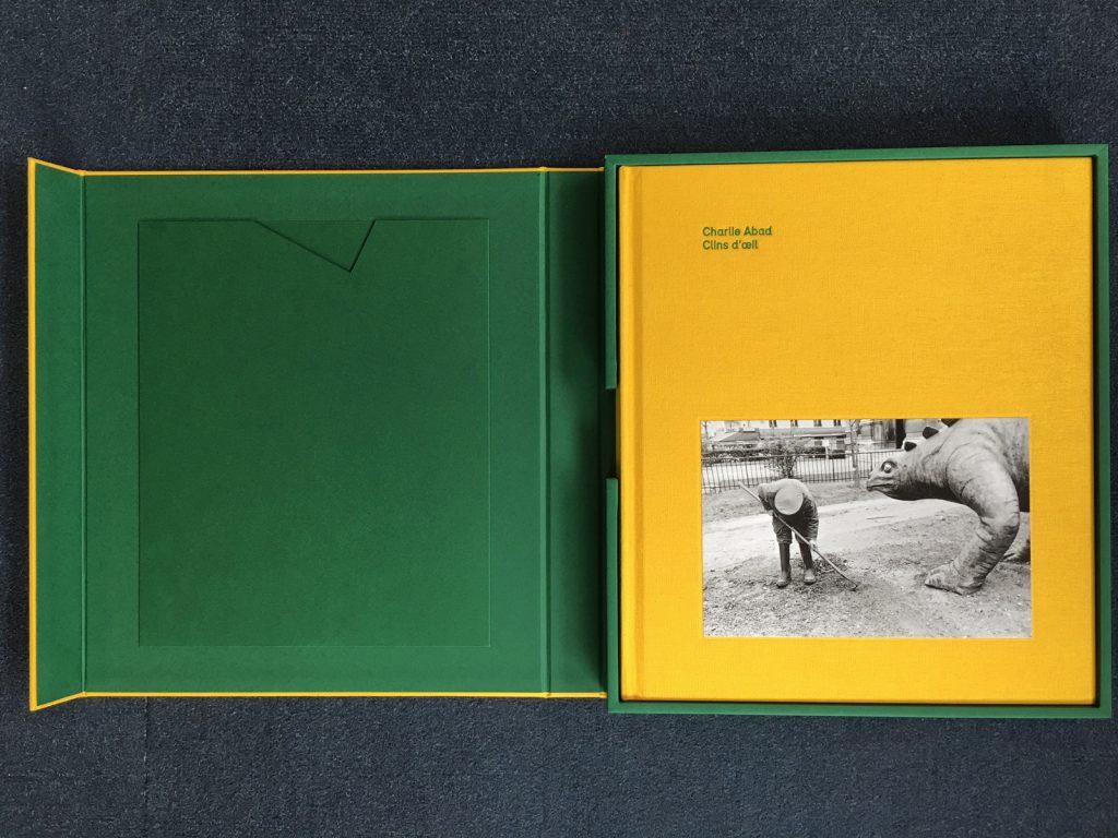 Coffret + livre Clins d'Oeil, Charlie Abad, coffret ouvert