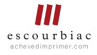 Logo Escourbiac Achevé d'imprimer