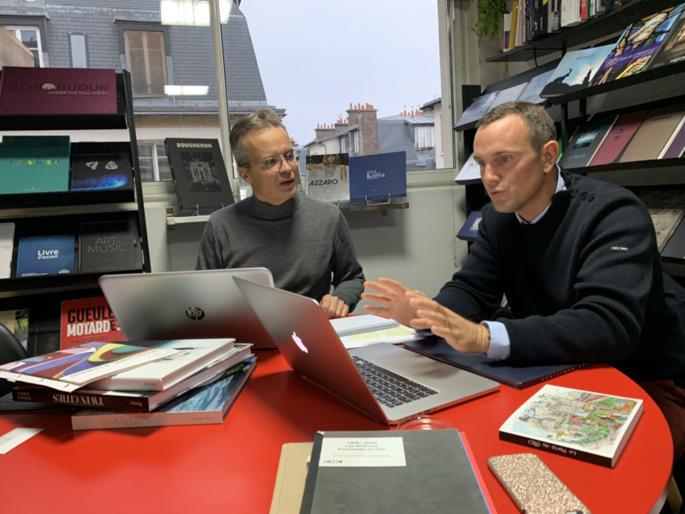 Alain Escourbiac et Ewan Lebourdais, Show-Room Escourbiac l'imprimeur, Paris