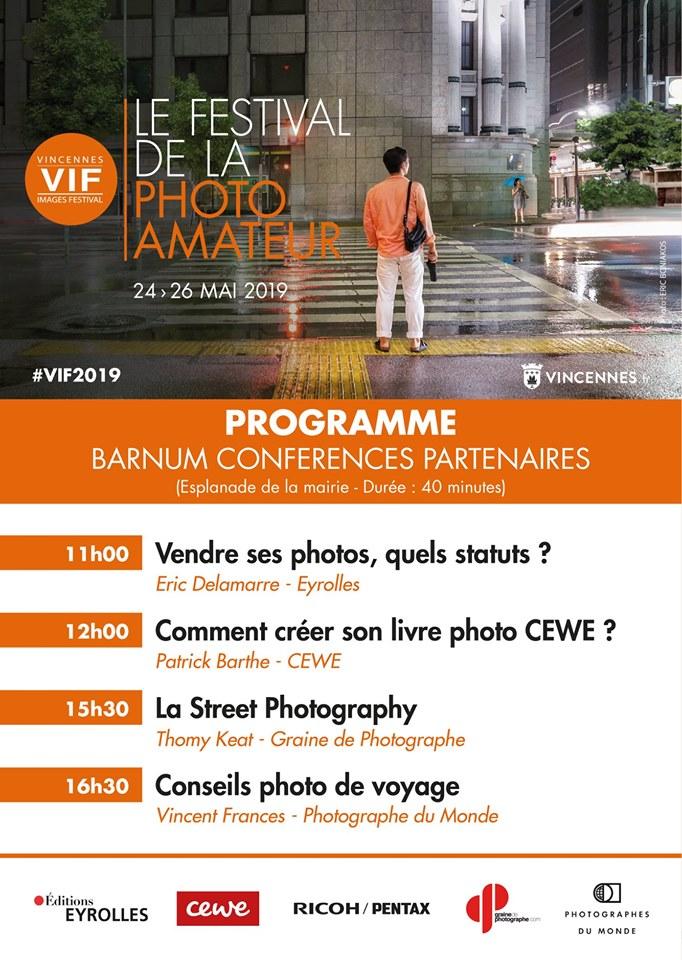 VIncennes Images Festival 2019, 3ème édition, conférences partenaires