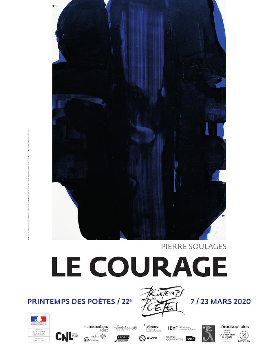 Affiche Pierre Soulages Printemps des Poètes 2020