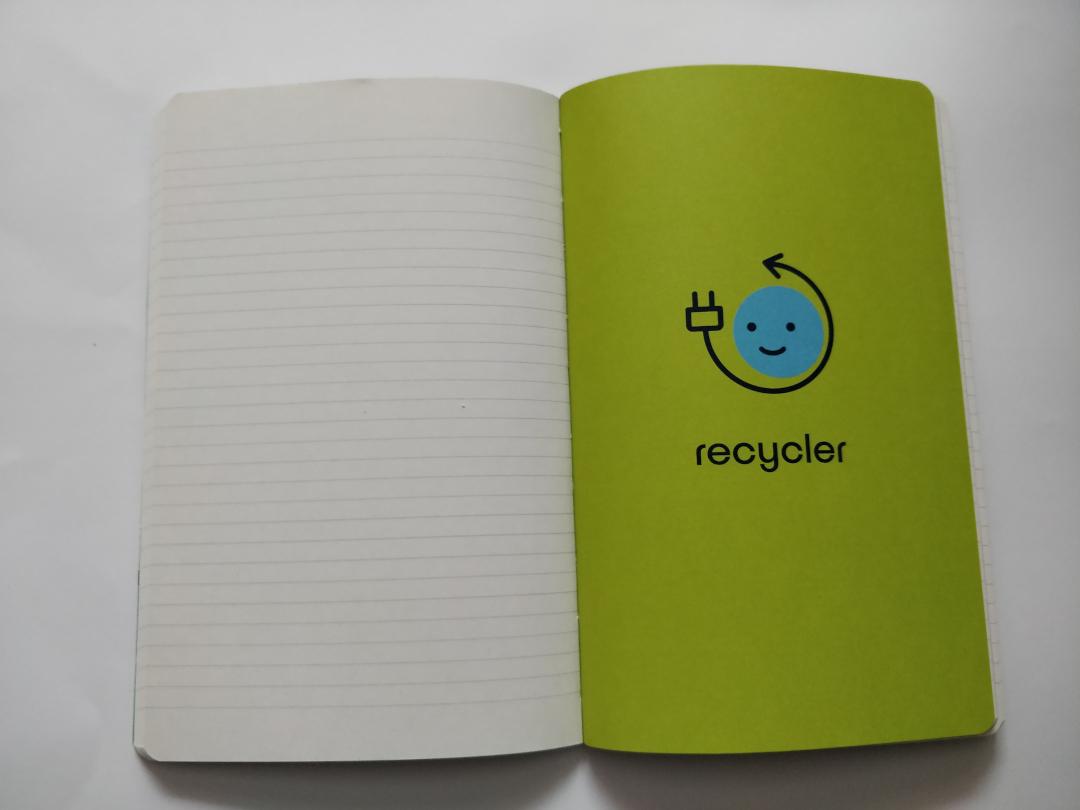 Carnet de notes Ecosystèmes, réemployer, recycler, protéger, intérieur