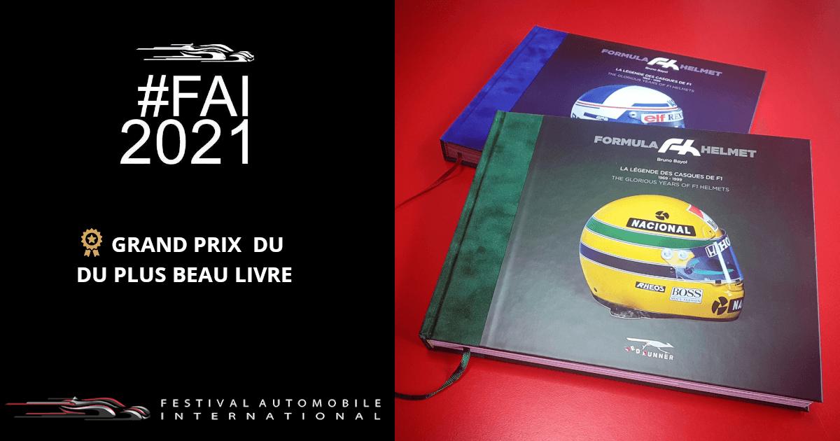 Formula Helmet, la légende des casques de F1, Grand Prix du plus beau livre FAI 2021