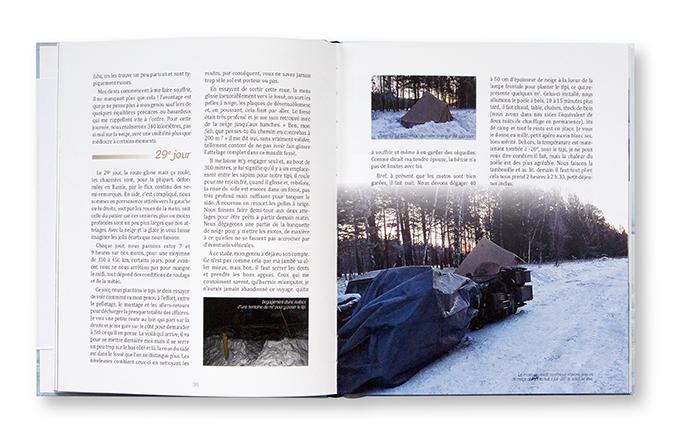 """Baïkal, """"l'aventure au coeur de l'hiver"""", deux amis, deux sides, un défi !, Didier Renaux, autoédition, intérieur"""