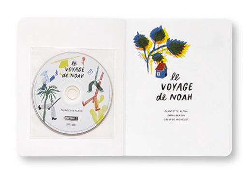 Le voyage de Noah, Livre-disque musical pour enfants, Quintette Altra, Emma Bertin, Calypso Michelet, Les éditions du Conservatoire, intérieur