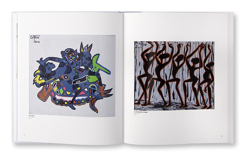 Gotène, au cœur du cosmos, catalogue exposition à Brazzaville, Congo, éditions Les Manguiers, intérieur