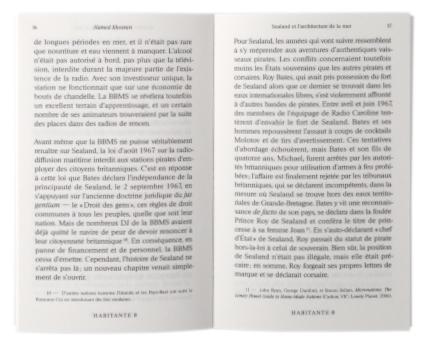 Revue Habitante n°0, Les Éditions Présentes, intérieur