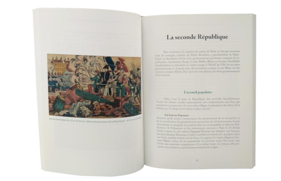Révolutions et mouvements sociaux au XIX° siècle et quelques évènements lot-et-garonnais, Marcel Garrouste, autoédition, intérieur